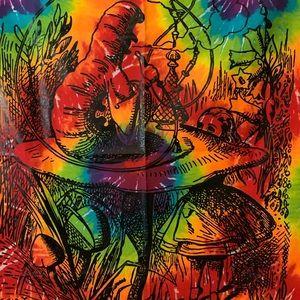 Other - Alice in wonderland tie dye tapestry